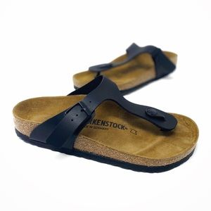 Birkenstock NEW Gizeh Sandal Black Leather 37